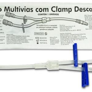 Equipo Multivias com clamp Descartável